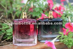 100ml square glass perfume bottle with pump sprayer