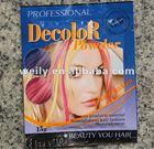 Hair decolorizing powder fashionable