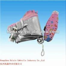 Printed Silver Coating Lace Edge Umbrella Pink
