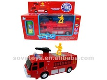 BATTERY OPERATED FIRE ENGINE (WITH LIGHT AND MUSIC BATTERIES NOT INCLUDED)