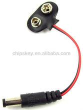9V 2.1 X 5.5mm Male Dc Plug to 9v Battery Clip