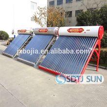 Vacuum tube intergrative non-pressure solar hot water heater system