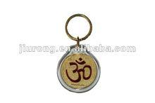 promotion gold foil key chain