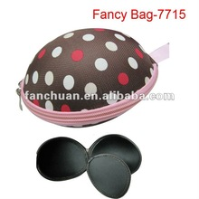 2014 new hot selling fashion travel girl's eva satin underwear design bikini bag
