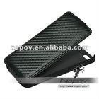 Classice Matt carbon fiber leather case for iPhone 5 case