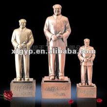 zinc alloy metal souvenir statue trophy,chairman Mao