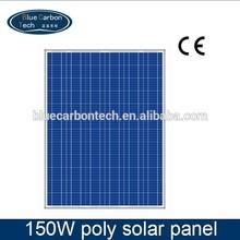 A grade cell photovoltaic pv solar panel 150W 12v