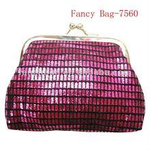Best price Snap closure kisslock mini satin purse