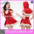 venta al por mayor de santa 2012 chica sexy disfraces de navidad para femals