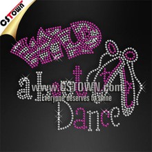 Wild about dance sequin rhinestone iron on transfer