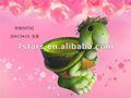 De cerámica verde tortuga con sombrero de maceta, la decoración del jardín