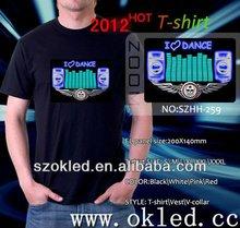 Wholesale Disco Music LED Light Qualizer EL T-Shirt tshirt printing