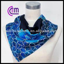 newest custom printed square silk scarf