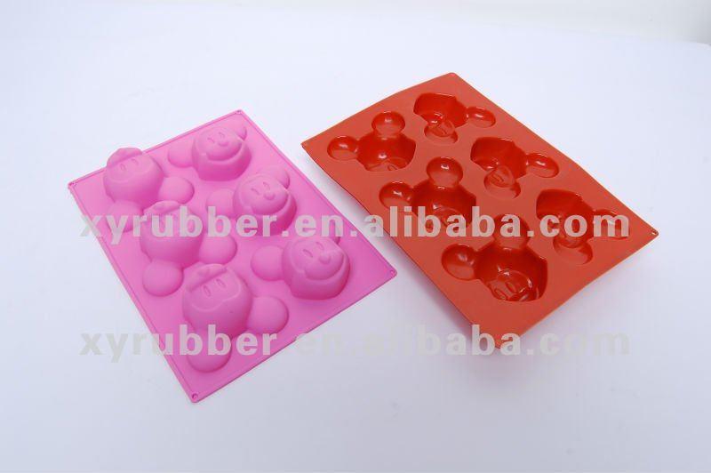 Mickey mouse em forma de moldes de silicone bolo 3d bolo de molde de silicone