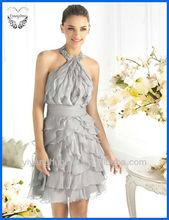 Fashionable Halter Short/Mini Ruffle Cocktail/Party Dresses