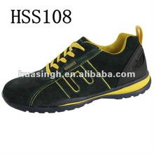 suede leather athletic running style working safety trainers British brand