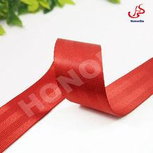 2inch Red Striped nylon webbing for safety belt
