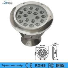 2012 Hottest 12V Round IP68 18w led underwater light