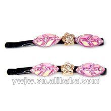 2012 New Design Fashion Handmade Rhinestone Types Of Hair Pins(JW-467)