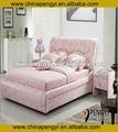Pink couro cama de casal py-6602
