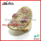 R3605 rose cut diamond ring ,14K yellow gold ring ,silver fashion ring jewelry