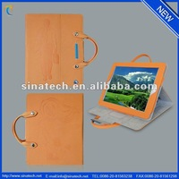 fashion handbag cover for ipad 3,flip stand pu leather case ,waterproof leather case with pen clip and magnet closure