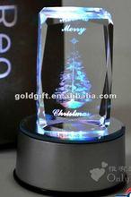 the led base for Crystal Laser Christmas Gift