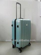 ABS 2 pcs set eminent aircraft airplane wheel travel trolley zipper hard shell drawbar rotary rotated royal case