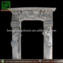 White Marble Door Frame with Figure Design