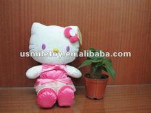 stuffed plush toys sitting kitty