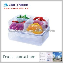Acrylic Food Container with 4 Compartments.Food Display.