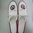 yangzhou hotel cheap cotton terry slippers imprint logo slippers