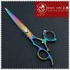 Rainbow Titanium Coated Design Hair Shear