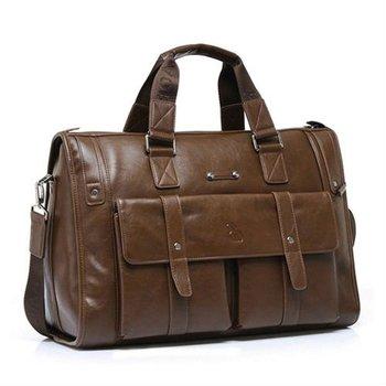 men leather travel bag