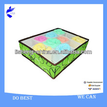 Printing 600*300D Pretty Fabric Sock Underwar Storage Containers Box