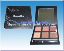 Newest design paper loose eyeshadow case for makeup products packing