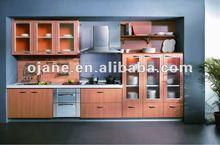 PVC thermofoil Modular Cupboard Kitchen Cabinet
