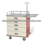 Stailess steel top 5 drawers Medicine trolley/Medicine cart