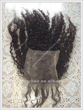virgin mongolian kinky curl hair lace closure