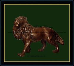 Standing Bronze Lion
