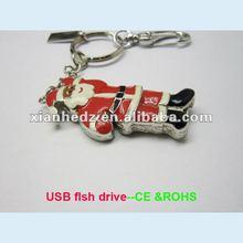 customized santa claus USB sticks, 2012 x-mas gift usb thumb drives China jewellry flash stick factory