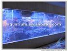 Seawater wall fish aquarium