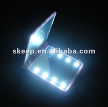2013 hot selling led light gift promotion cosmetic mirror for promotion gifts(large stock on our warehouse).
