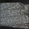 Embroidery silver sequin fabric (FLS-032337)