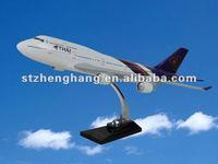 b747-400 THAI 47cm resin airplane charms