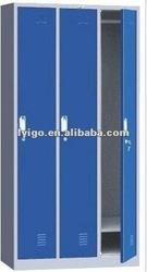 IGO-022-1 blue locking clothing home locker with 3 door or steel almirah