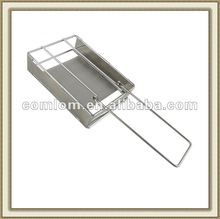 Folding Stainless Steel Bread Toaster Grill 2012 New Style