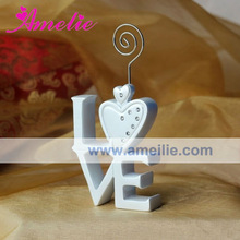 AWX05 Resin Material Big Size Love letter Wedding Unique Place Card Holder