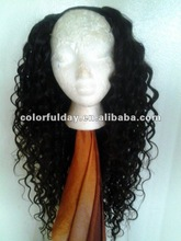 Custom Made Indian Remy Hair 3/4 Wigs