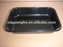 fancy disposable black PP plastic fruit tray